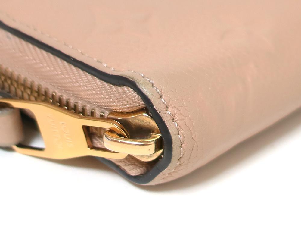 ルイヴィトン モノグラム・アンプラント ジッピー・ウォレット 長財布 M61866 外側ダメージ04