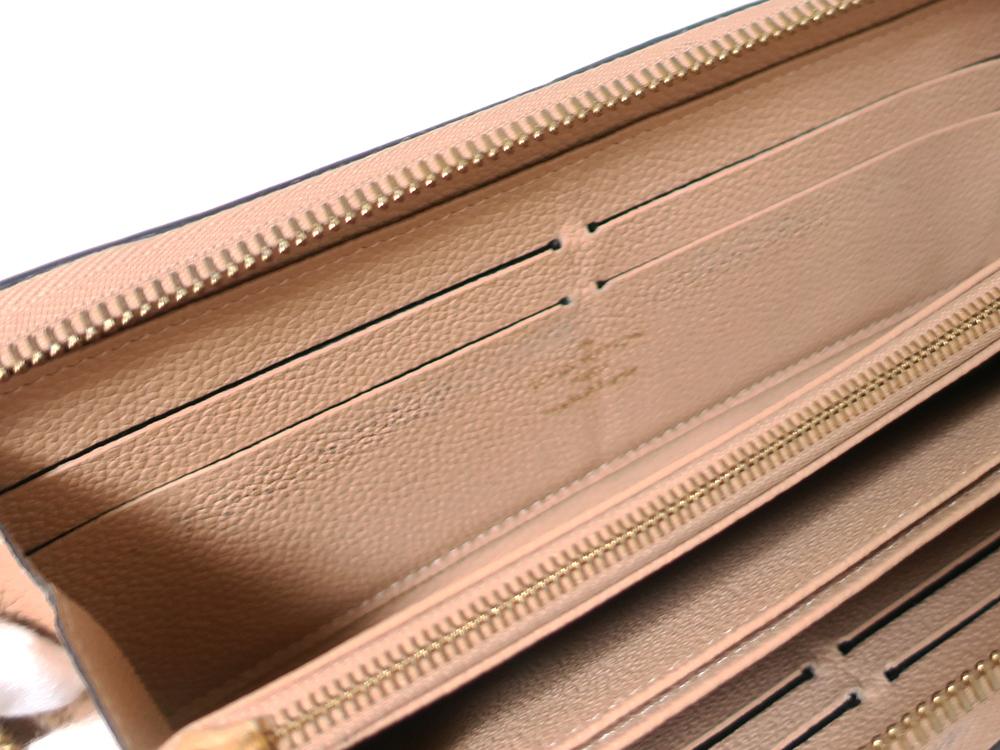 ルイヴィトン モノグラム・アンプラント ジッピー・ウォレット 長財布 M61866 内側ダメージ03