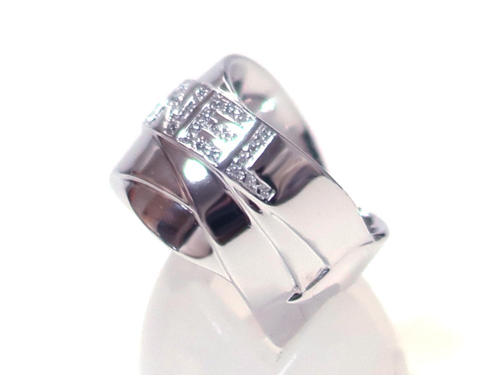 シャネル ホワイトゴールド ダイヤモンド ボルディックリング 側面01