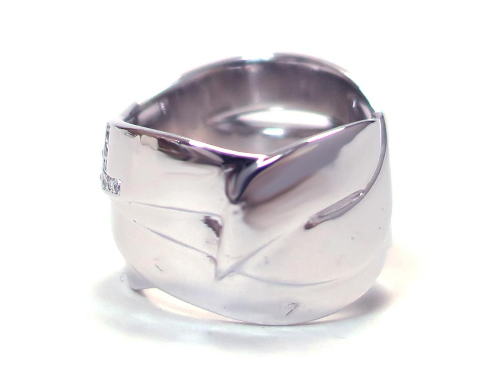 シャネル ホワイトゴールド ダイヤモンド ボルディックリング 背面01