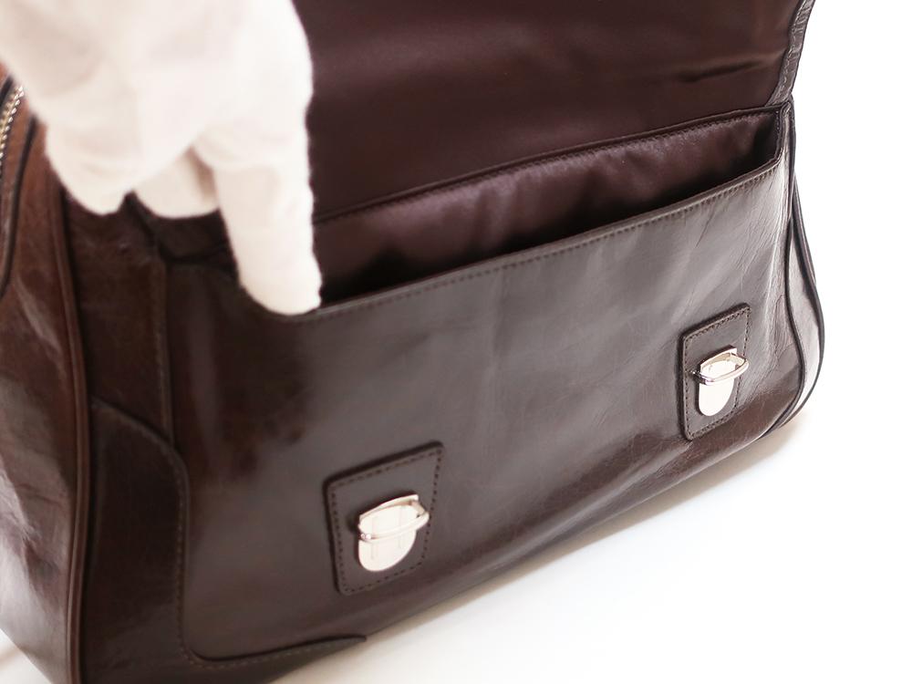 コーチ プッシュロック サッチェル 2WAY ハンドバッグ 17888 フラップポケット