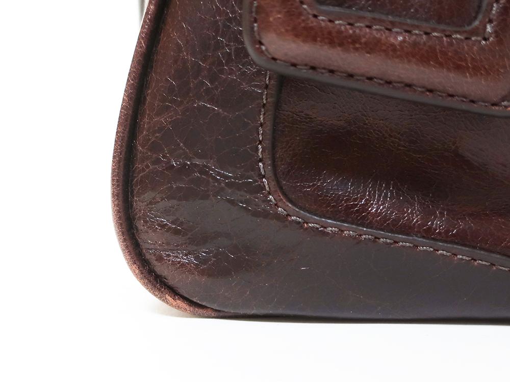 コーチ プッシュロック サッチェル 2WAY ハンドバッグ 17888 外側ダメージ04