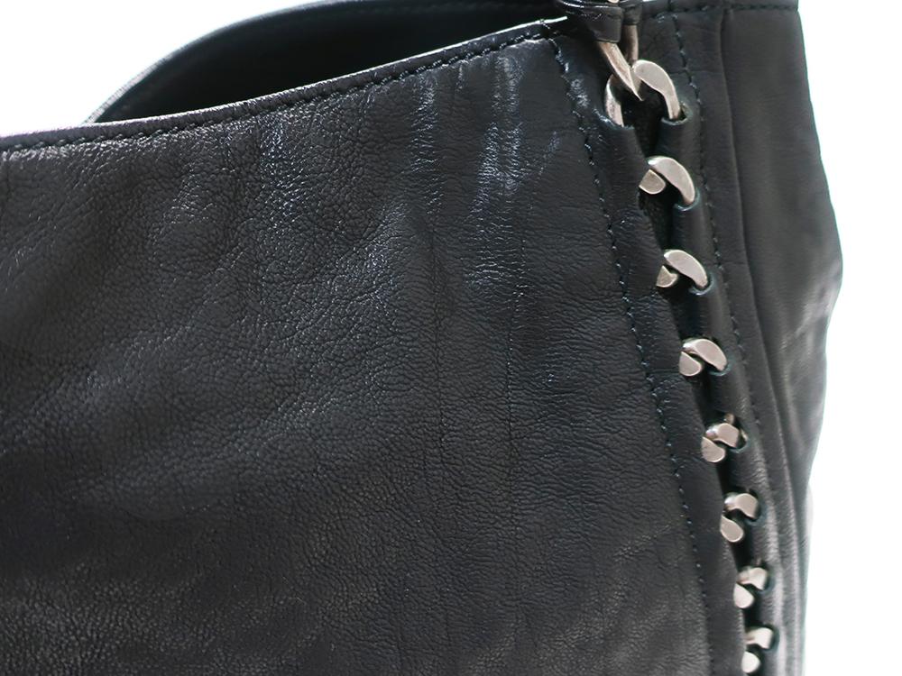 シャネル ラグジュアリーライン ココマーク トートバッグ ブラック 外側ダメージ01