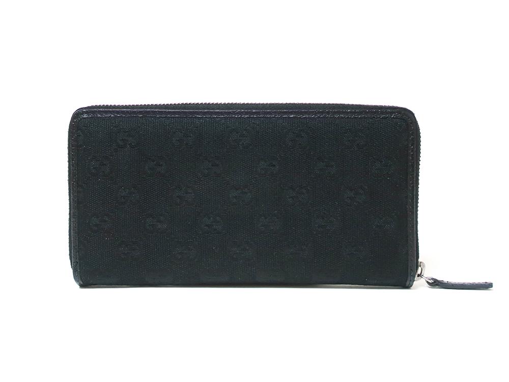グッチ GGキャンバス 長財布 ブラック 112724 背面