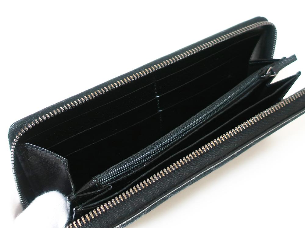 グッチ GGキャンバス 長財布 ブラック 112724 カード入れ02