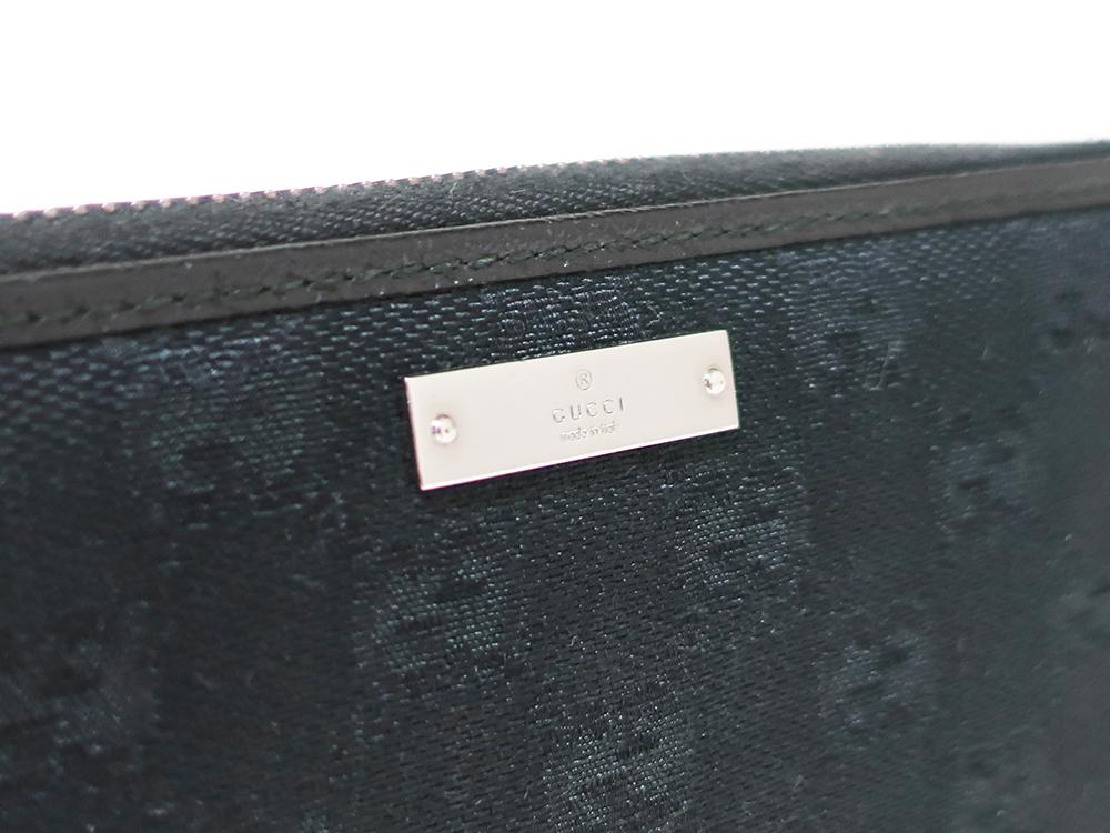 グッチ GGキャンバス 長財布 ブラック 112724 ロゴ