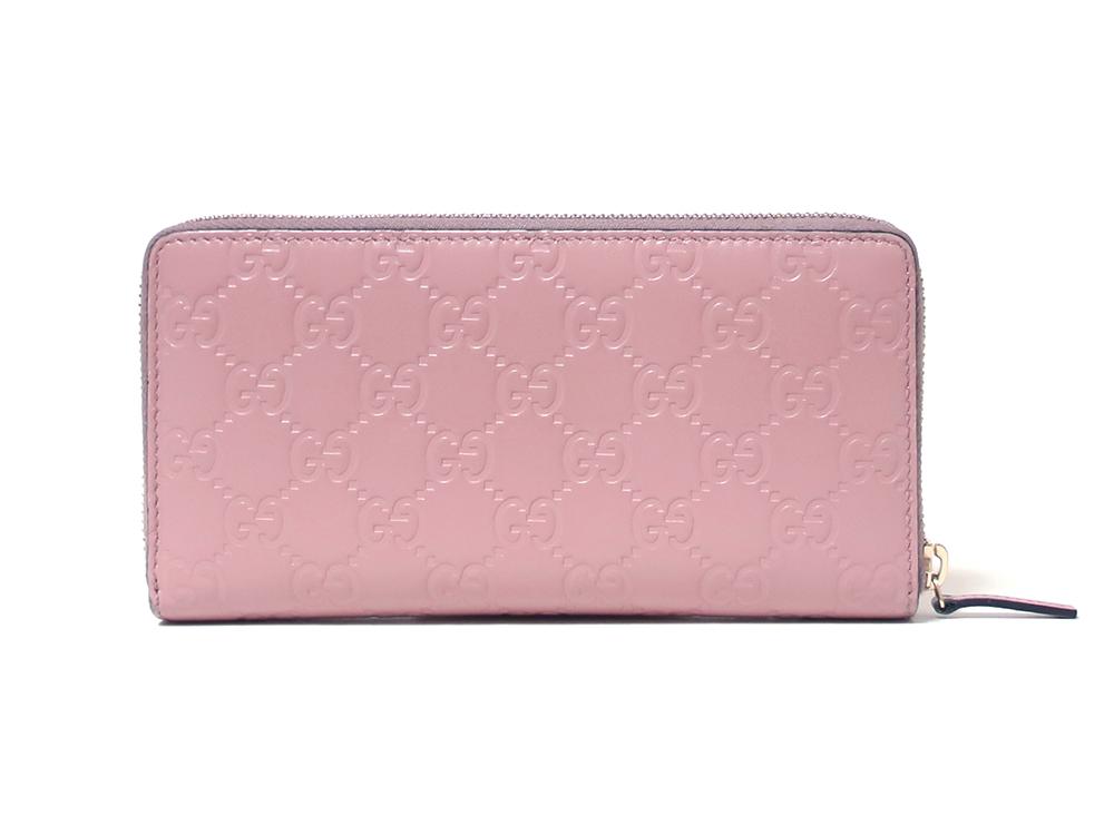 グッチ グッチシマ 長財布 ピンク 388680 背面