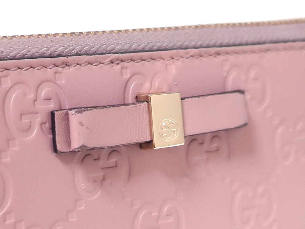 グッチ グッチシマ 長財布 ピンク 388680 外側ダメージ01