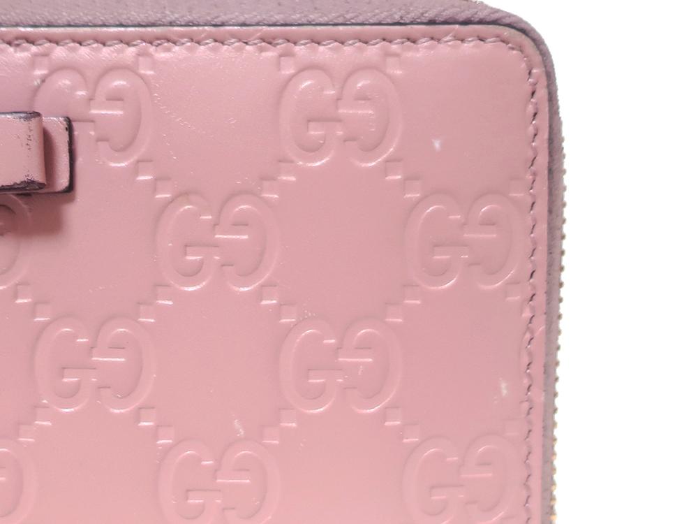 グッチ グッチシマ 長財布 ピンク 388680 外側ダメージ03