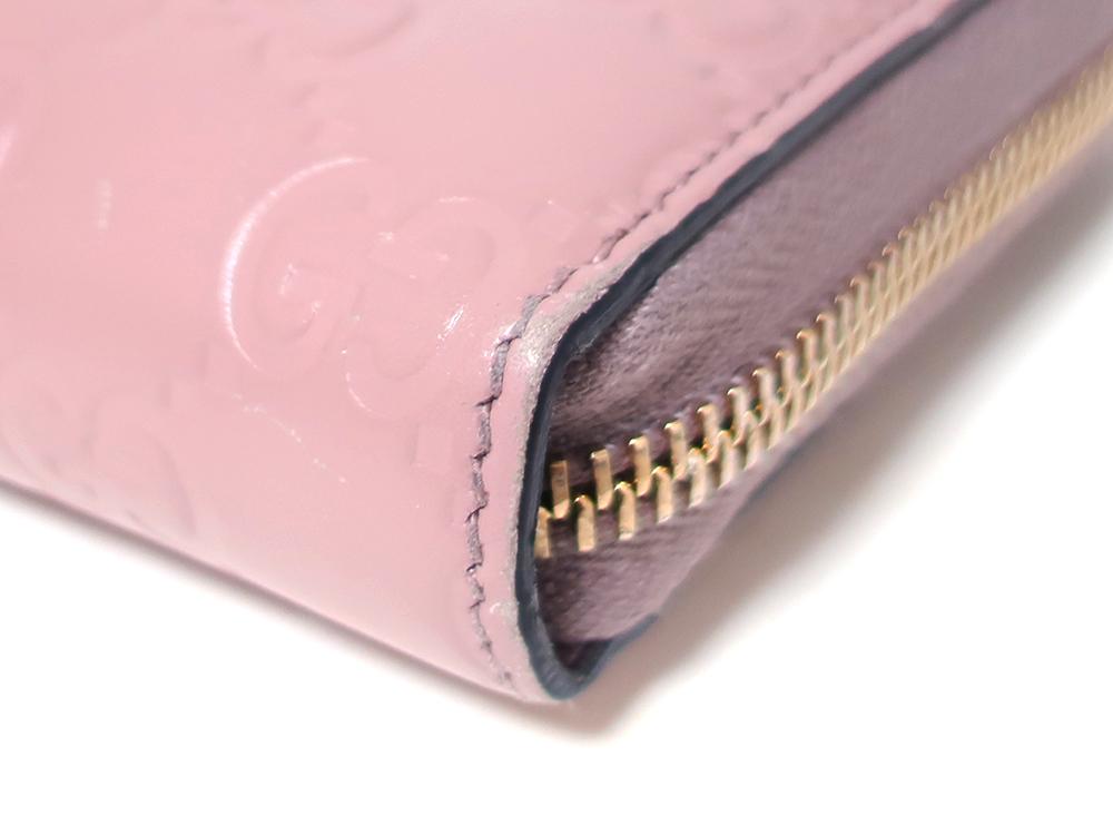グッチ グッチシマ 長財布 ピンク 388680 外側ダメージ04