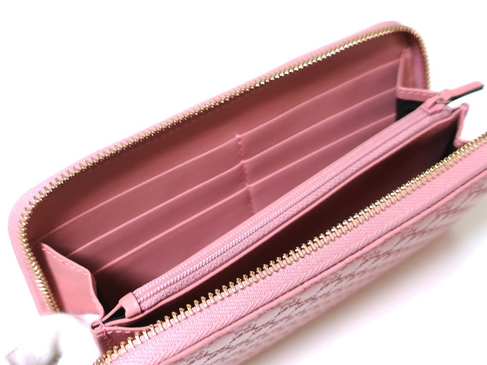グッチ マイクログッチシマ 長財布 ピンク 449391 カード入れ02