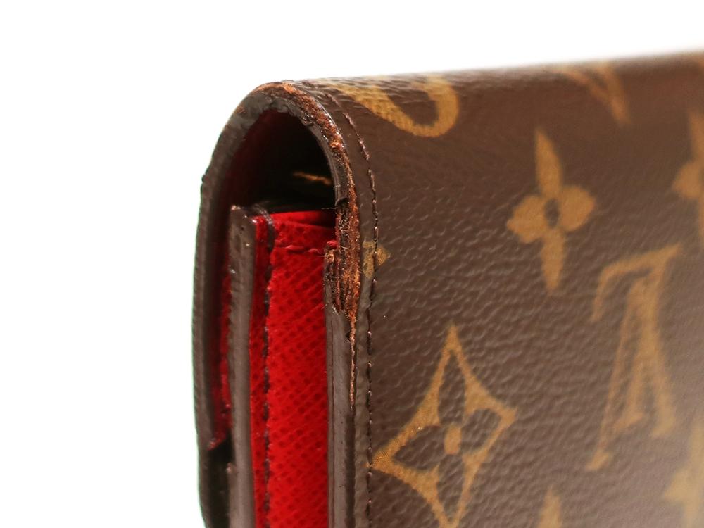 ルイヴィトン モノグラム ポルトフォイユ・エミリー 長財布 M60136 外側ダメージ01