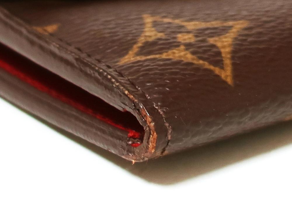 ルイヴィトン モノグラム ポルトフォイユ・エミリー 長財布 M60136 外側ダメージ02