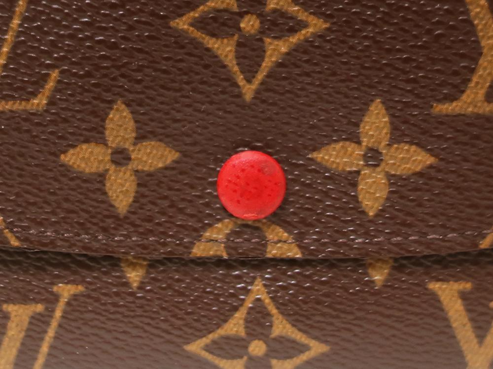 ルイヴィトン モノグラム ポルトフォイユ・エミリー 長財布 M60136 外側ダメージ03