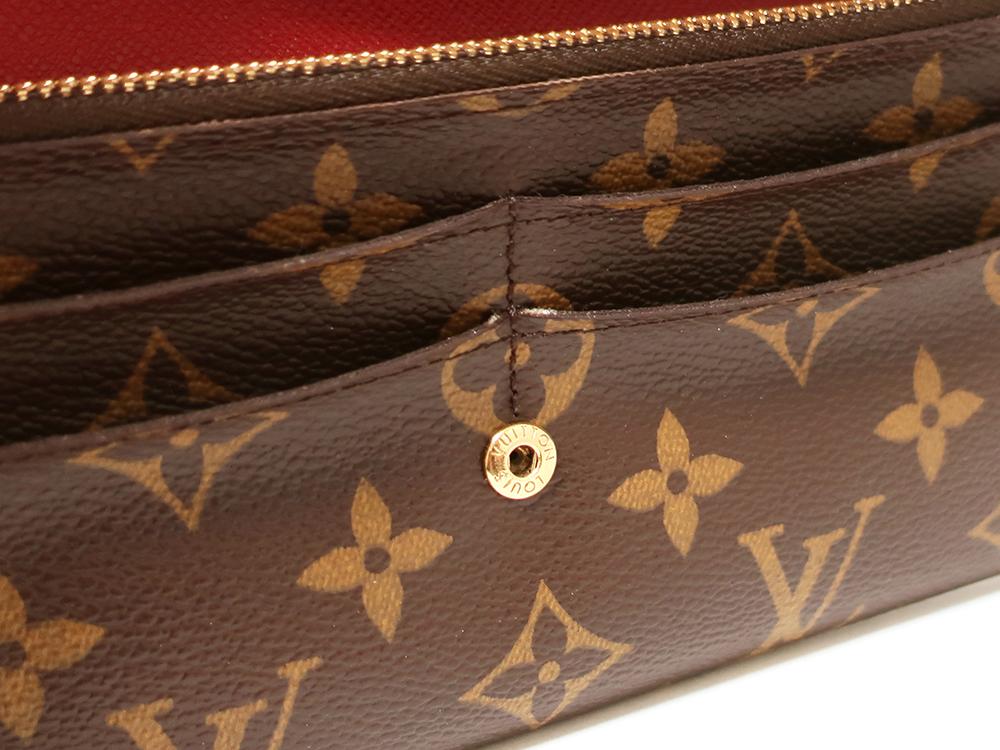 ルイヴィトン モノグラム ポルトフォイユ・エミリー 長財布 M60136 内側ダメージ01
