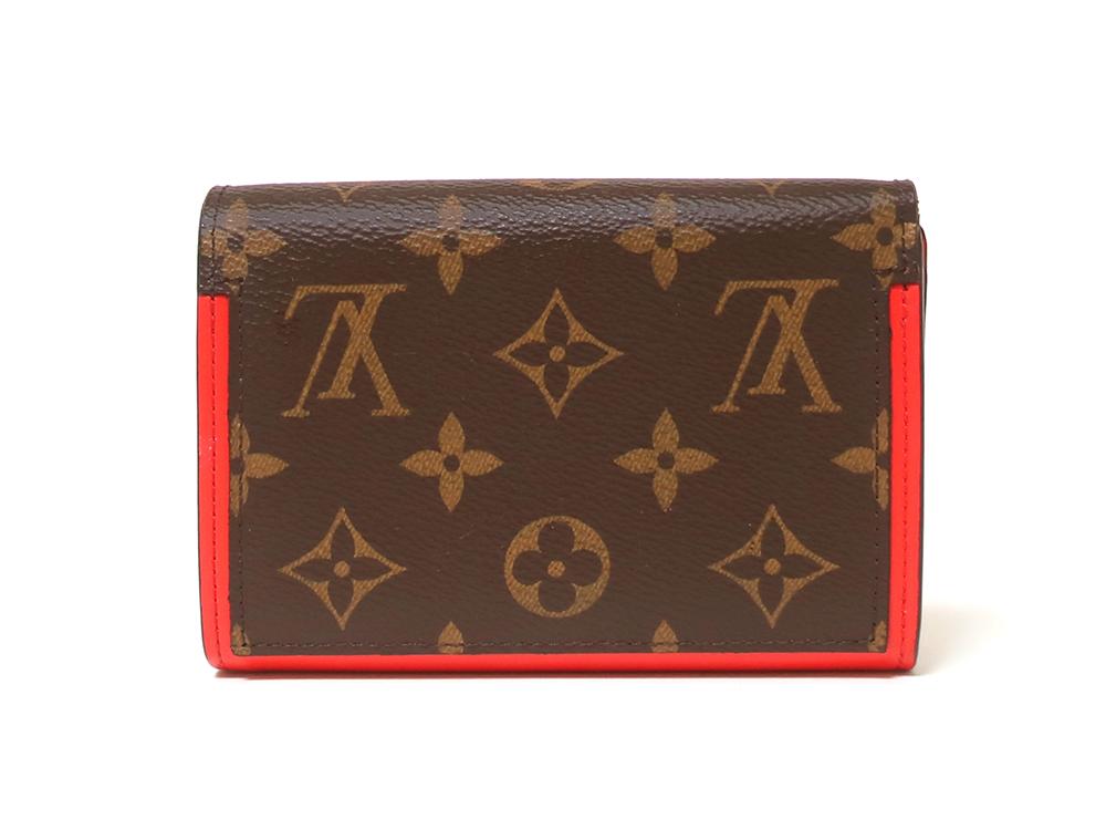 ルイヴィトン モノグラム ポルトフォイユ・フロール コンパクト 財布 M64587 背面