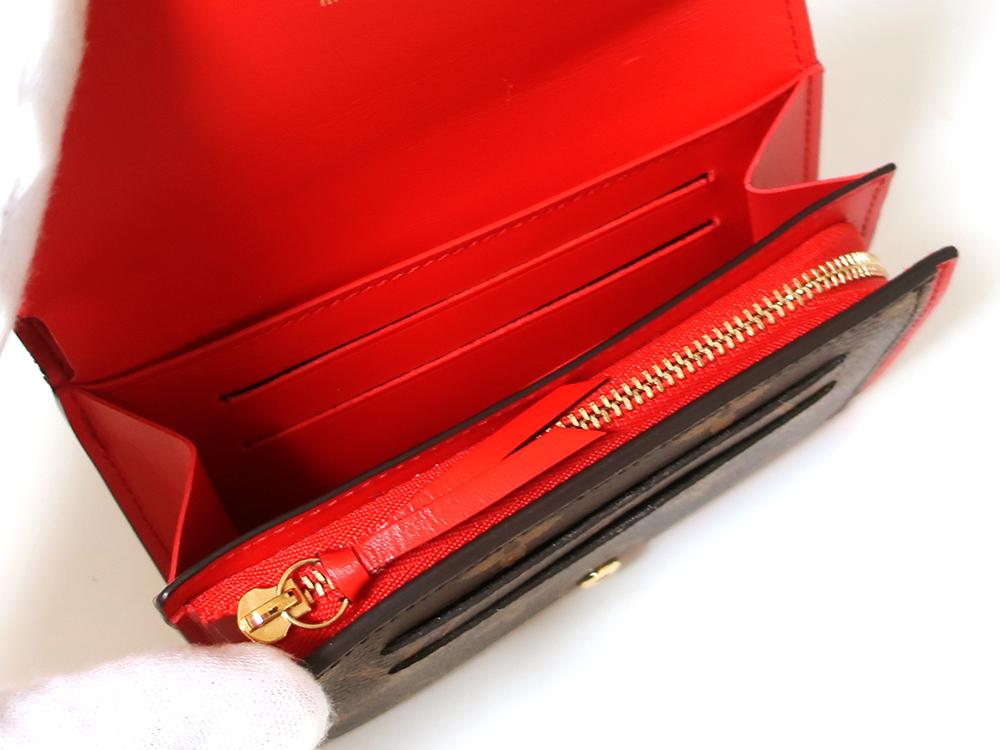 ルイヴィトン モノグラム ポルトフォイユ・フロール コンパクト 財布 M64587 内面