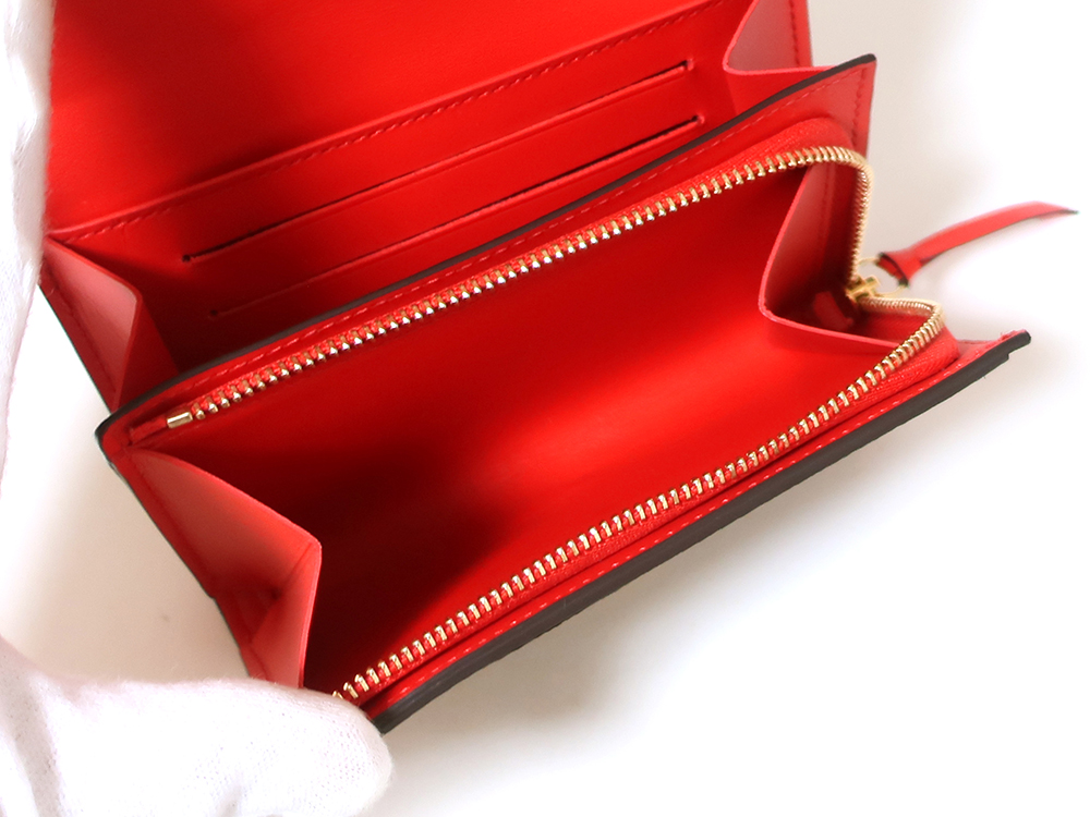 ルイヴィトン モノグラム ポルトフォイユ・フロール コンパクト 財布 M64587 小銭入れ