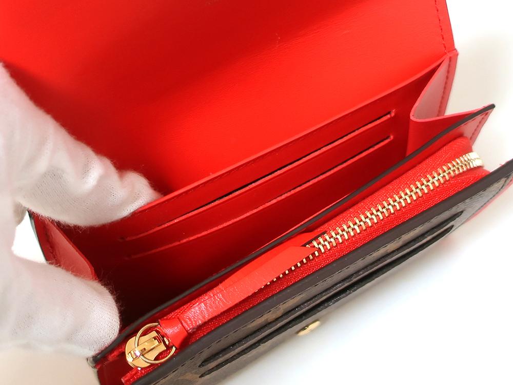 ルイヴィトン モノグラム ポルトフォイユ・フロール コンパクト 財布 M64587 オープンポケット
