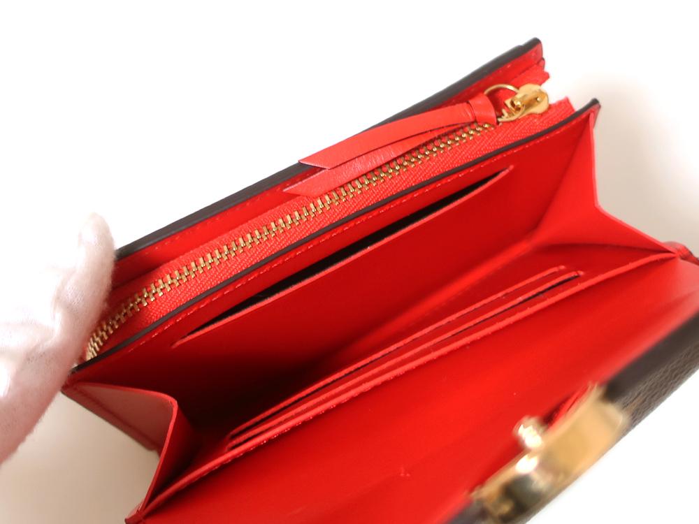 ルイヴィトン モノグラム ポルトフォイユ・フロール コンパクト 財布 M64587 カード入れ02