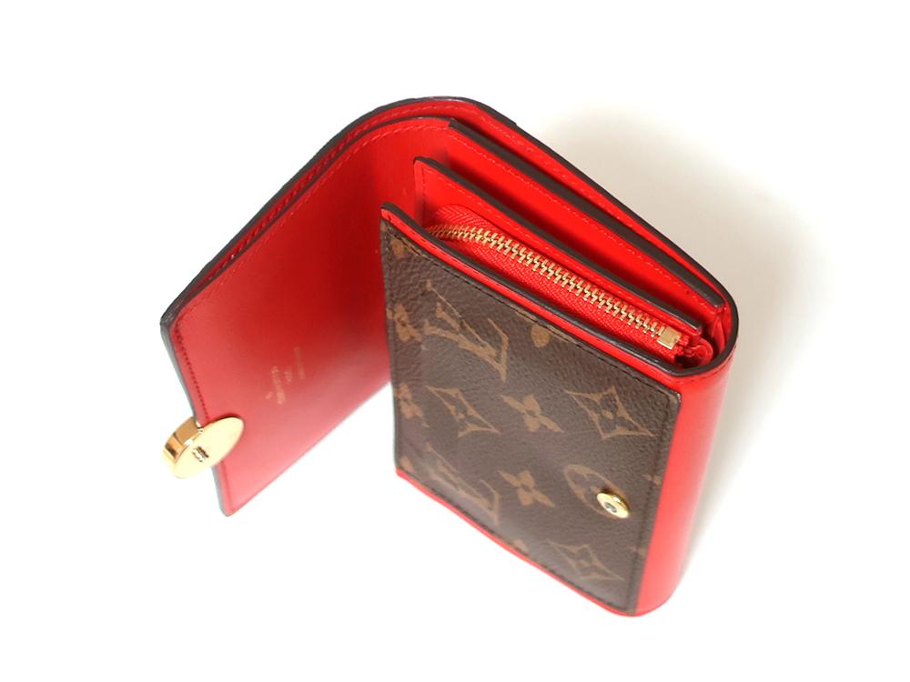 ルイヴィトン モノグラム ポルトフォイユ・フロール コンパクト 財布 M64587 札入れ01