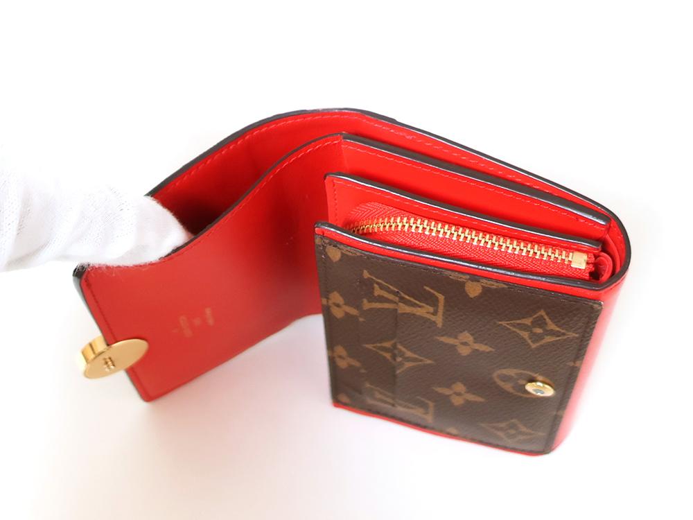 ルイヴィトン モノグラム ポルトフォイユ・フロール コンパクト 財布 M64587 札入れ02