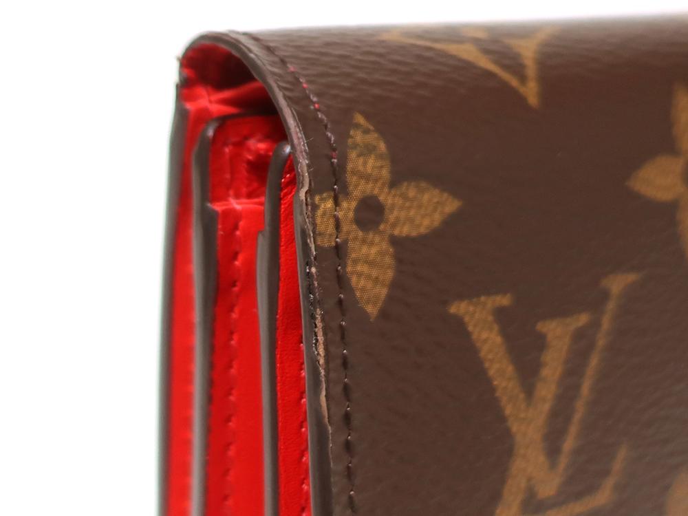 ルイヴィトン モノグラム ポルトフォイユ・フロール コンパクト 財布 M64587 外側ダメージ01