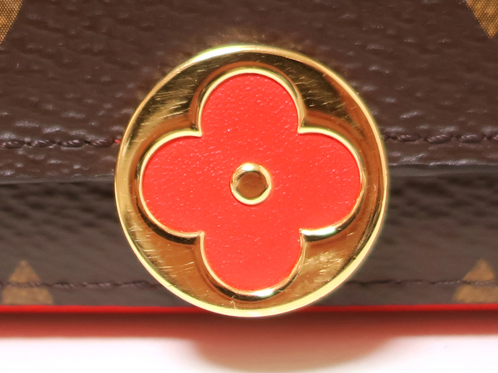 ルイヴィトン モノグラム ポルトフォイユ・フロール コンパクト 財布 M64587 外側ダメージ03