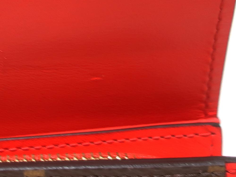 ルイヴィトン モノグラム ポルトフォイユ・フロール コンパクト 財布 M64587 内側ダメージ01