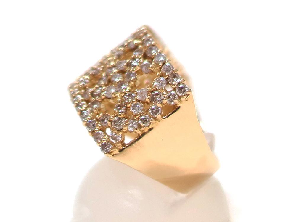 ジュエリー イエローゴールド ダイヤモンド リング ダイヤ1.43ct 側面01