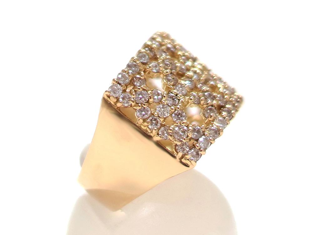 ジュエリー イエローゴールド ダイヤモンド リング ダイヤ1.43ct 側面02