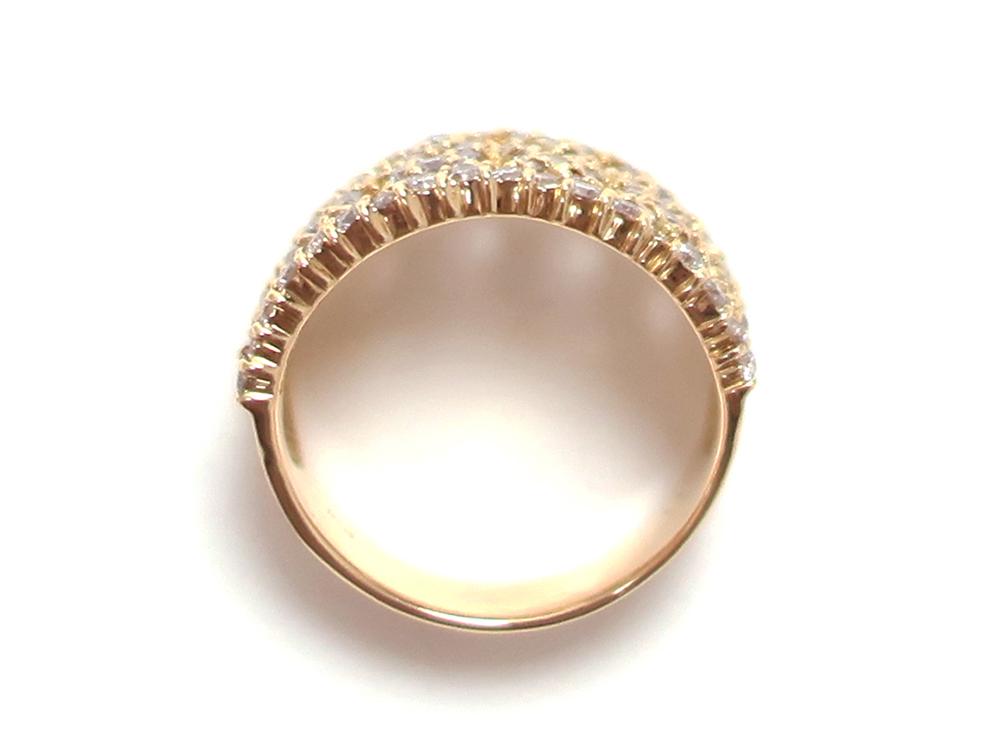ジュエリー イエローゴールド ダイヤモンド リング ダイヤ1.43ct 上面