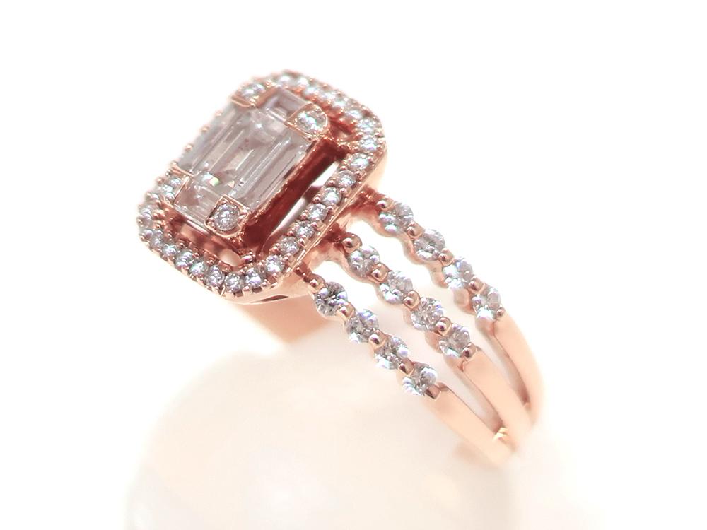 ジュエリー ピンクゴールド ダイヤモンド リング ダイヤ0.69ct 特徴01