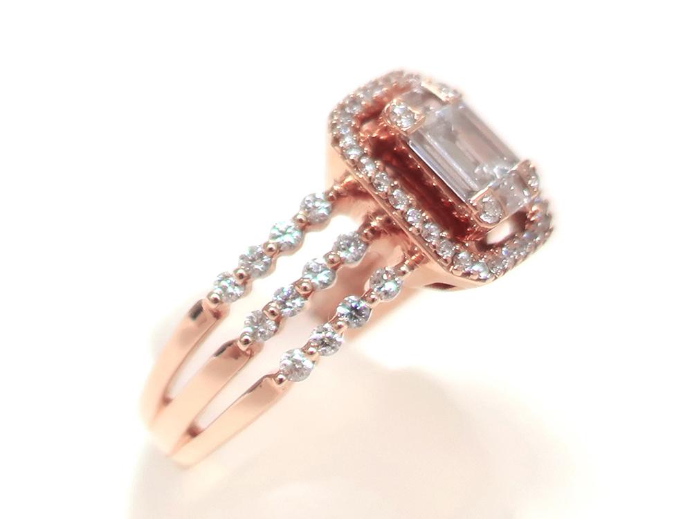 ジュエリー ピンクゴールド ダイヤモンド リング ダイヤ0.69ct 特徴02