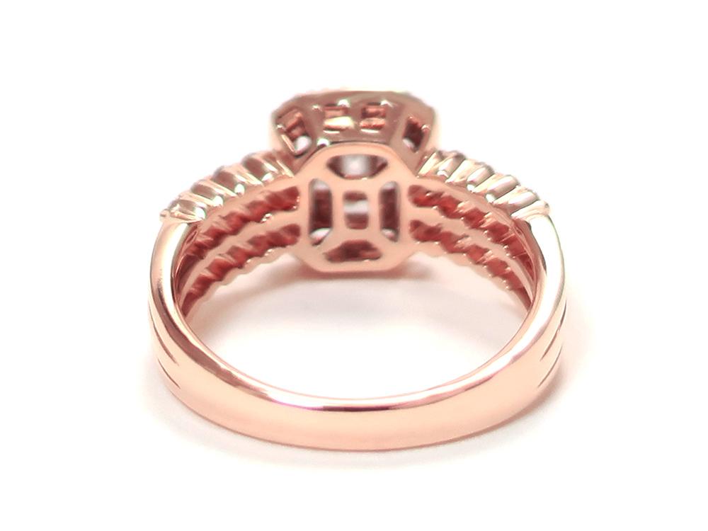 ジュエリー ピンクゴールド ダイヤモンド リング ダイヤ0.69ct 背面