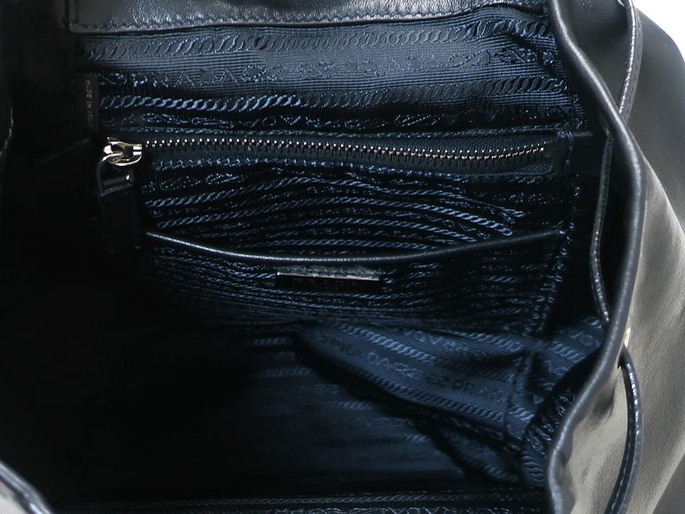 プラダ ネロ バックパック BZ032L オープンポケット