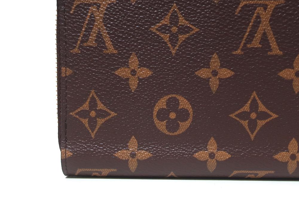 ルイヴィトン モノグラム ジッピー・ウォレット 長財布 M42616 外側ダメージ