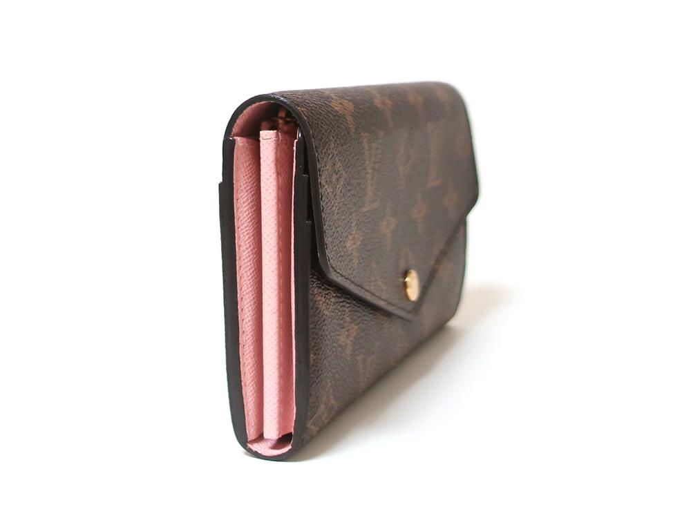 ルイヴィトン モノグラム ポルトフォイユ・サラ 長財布 M62235 側面
