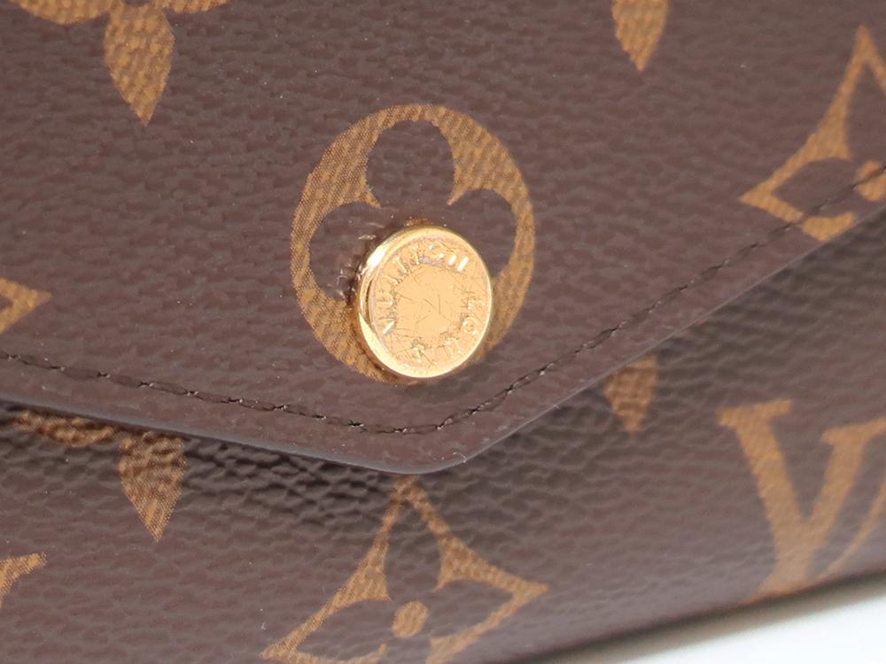 ルイヴィトン モノグラム ポルトフォイユ・サラ 長財布 M62235 外側ダメージ01