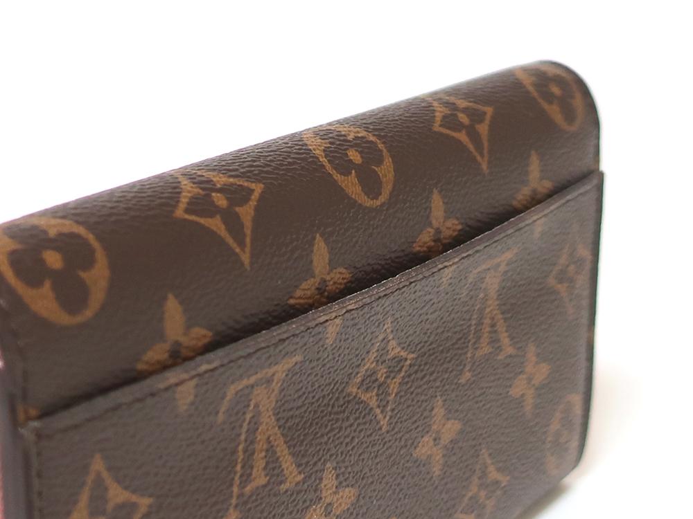 ルイヴィトン モノグラム ポルトフォイユ・サラ 長財布 M62235 外側ダメージ02