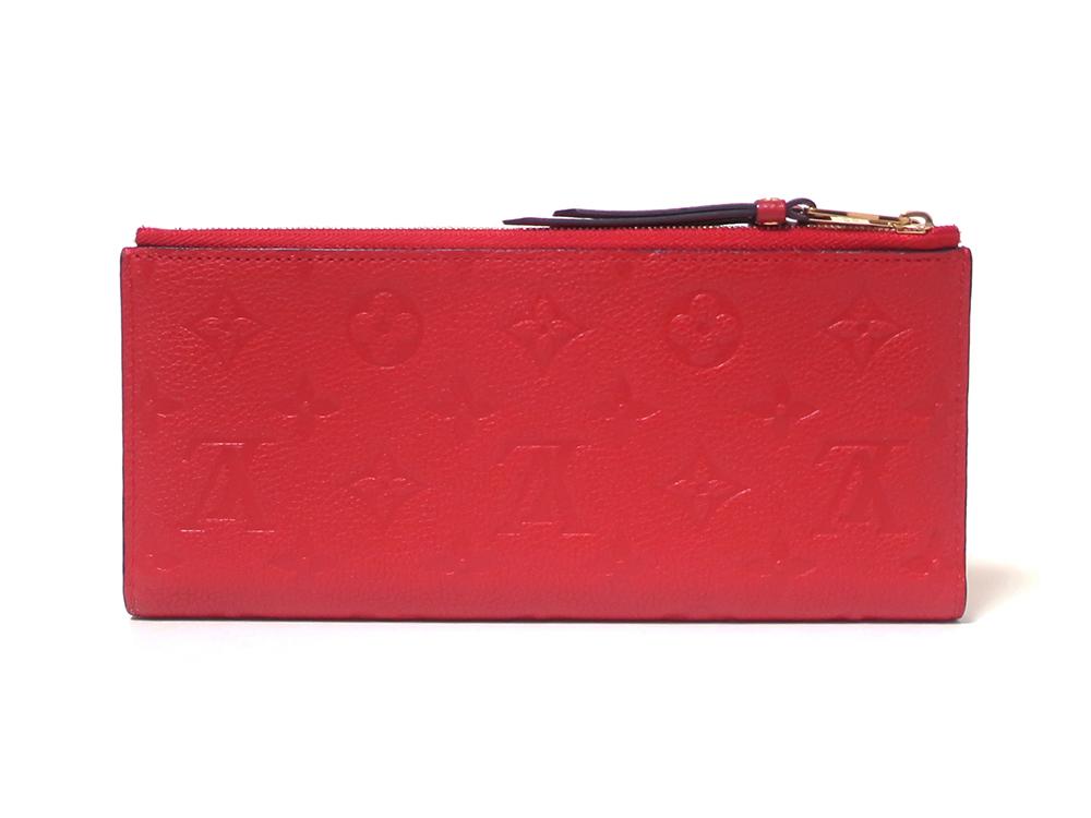 ルイヴィトン モノグラム・アンプラント ポルトフォイユ・アデル 長財布 M62529 背面