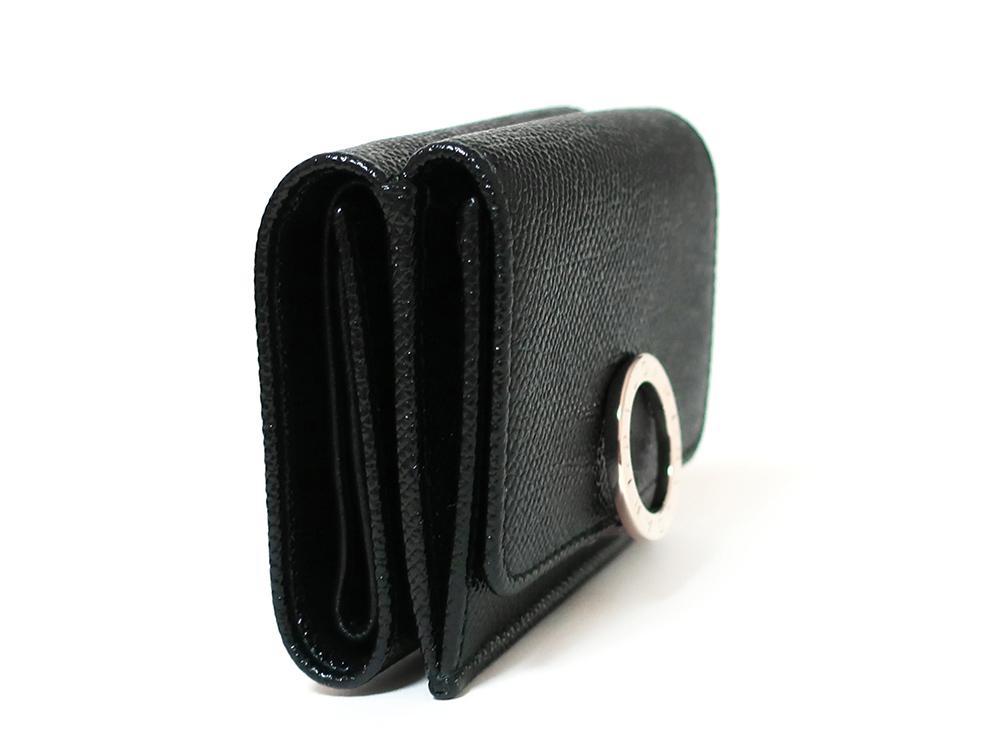 ブルガリ ブルガリ・ブルガリ 三つ折り財布 レザー ブラック 288648 側面