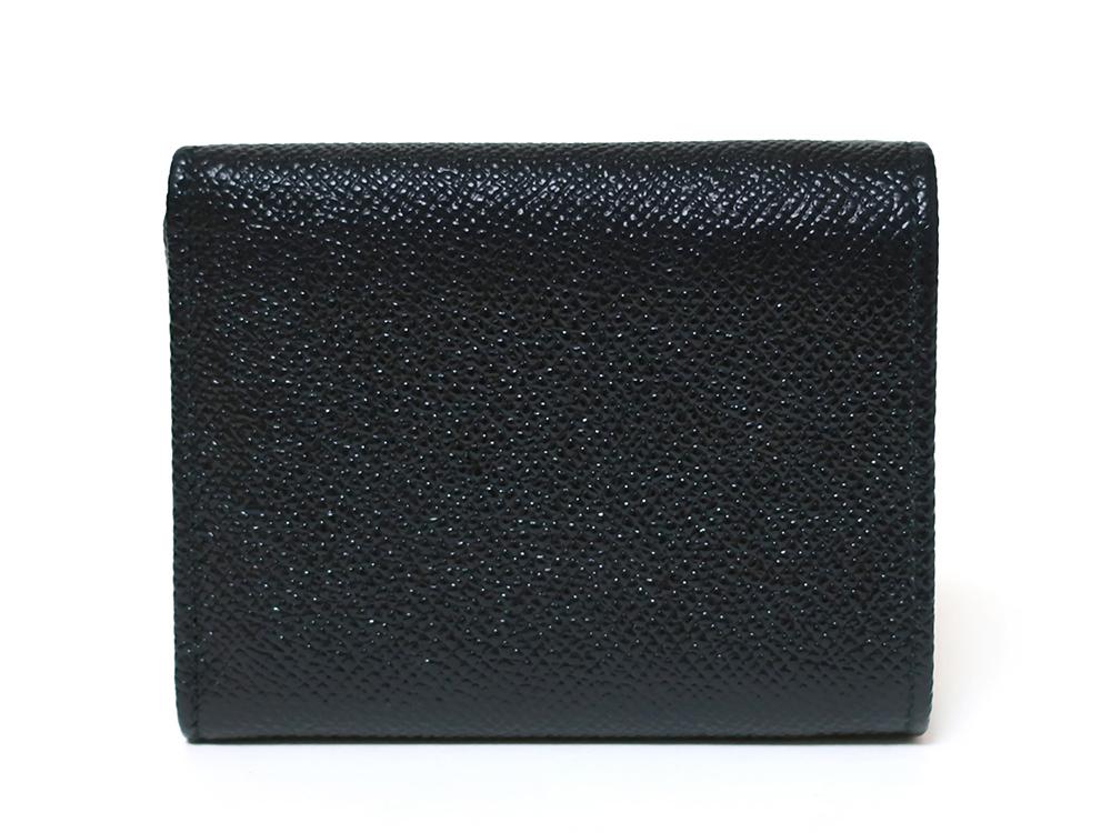 ブルガリ ブルガリ・ブルガリ 三つ折り財布 レザー ブラック 288648 背面