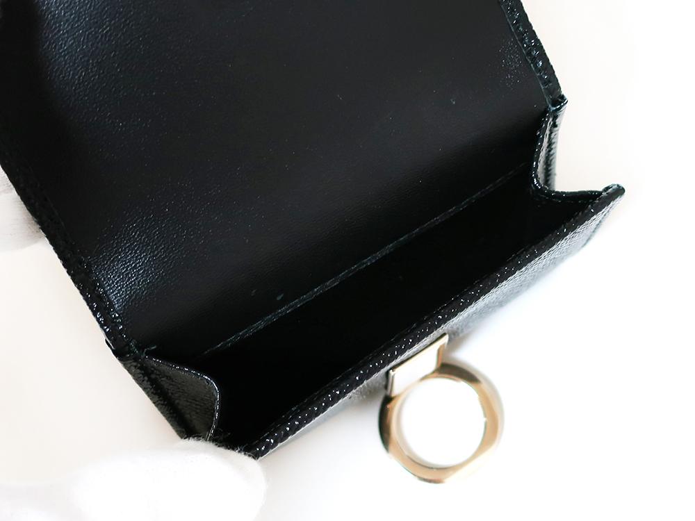 ブルガリ ブルガリ・ブルガリ 三つ折り財布 レザー ブラック 288648 小銭入れ