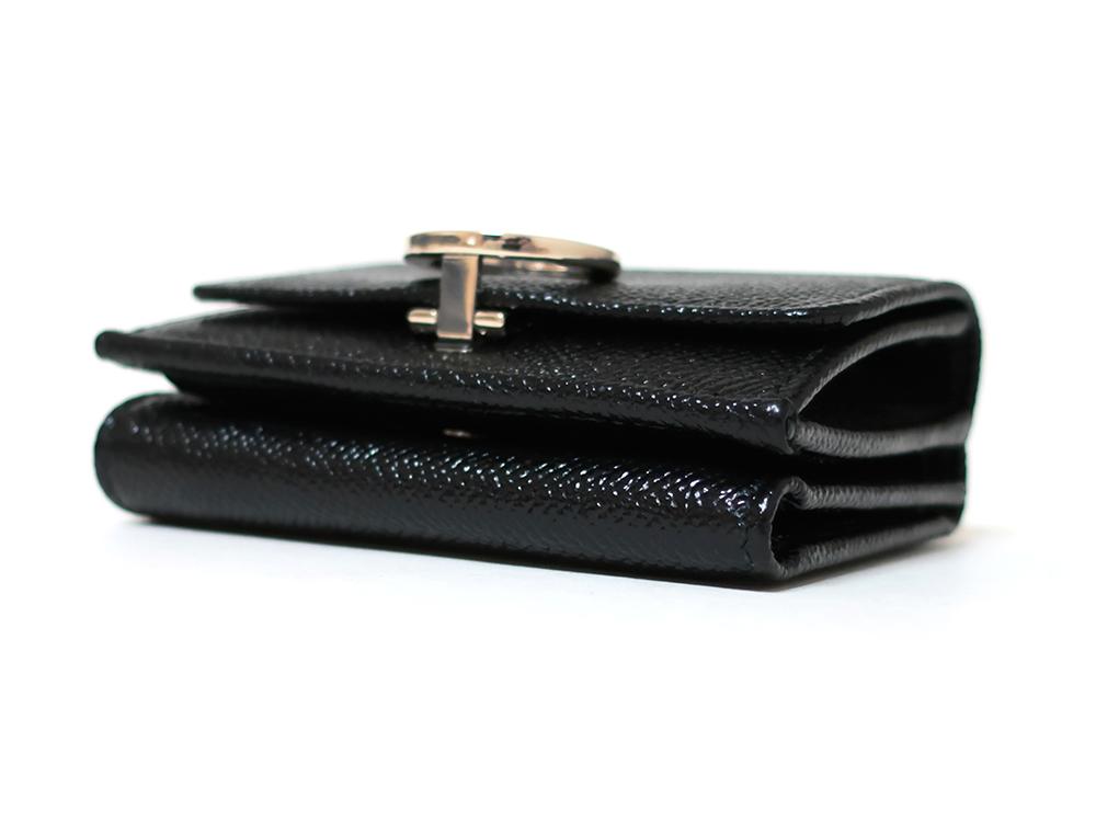 ブルガリ ブルガリ・ブルガリ 三つ折り財布 レザー ブラック 288648 底面