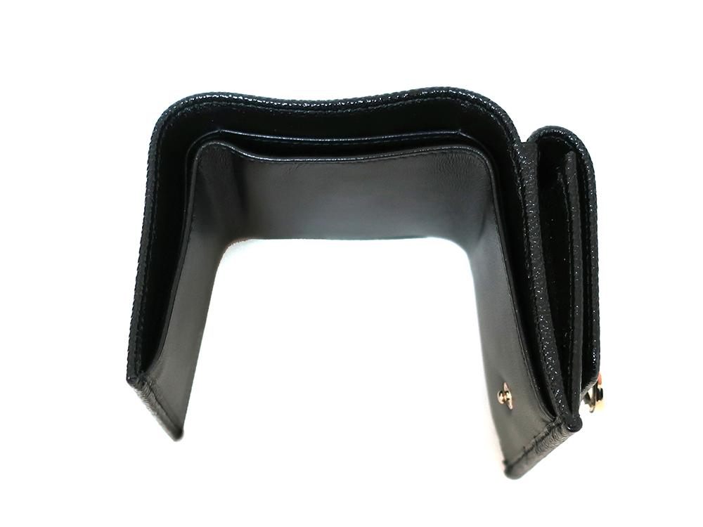 ブルガリ ブルガリ・ブルガリ 三つ折り財布 レザー ブラック 288648 札入れ01