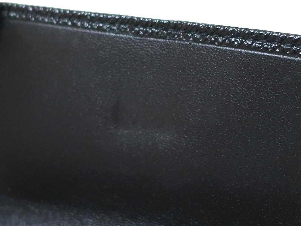 ブルガリ ブルガリ・ブルガリ 三つ折り財布 レザー ブラック 288648 内側ダメージ01