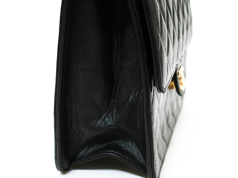 シャネル マトラッセ シングルチェーン ショルダーバッグ ブラック A03569 外側ダメージ03
