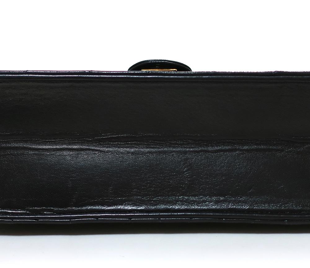 シャネル マトラッセ シングルチェーン ショルダーバッグ ブラック A03569 内側ダメージ01