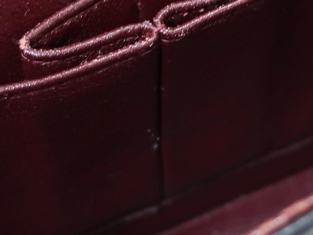 シャネル マトラッセ チェーンショルダーバッグ ブラック A01112  内側ダメージ05
